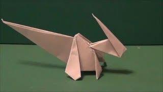 "getlinkyoutube.com-恐竜「パラサウロロフス」折り紙 Dinosaur ""Parasaurolophus"" origami"
