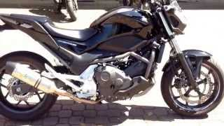 getlinkyoutube.com-Honda NC 700 s Sound con marmitta LeoVince Evo II exhaust DB Killer (750 dct italiano TUNING sbk