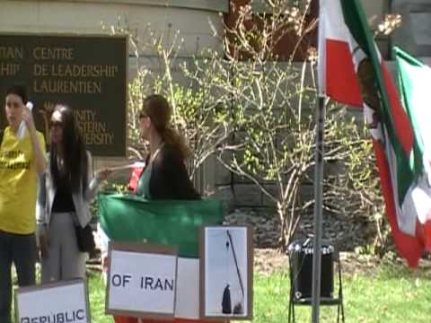 Live Hanging in front of the Iranian Embassy (Ottawa)