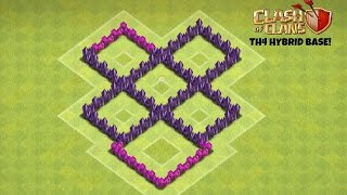 getlinkyoutube.com-Clash of Clans - TH4 Hybrid Base (TheMortar)