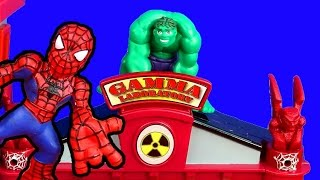 getlinkyoutube.com-Marvel Superhero Squad Gamma Lab Adventure Spider-man Hulk Imaginext Joker Two Face Bane