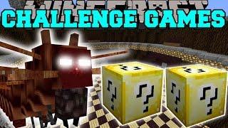 getlinkyoutube.com-Minecraft: CATERKILLER CHALLENGE GAMES - Lucky Block Mod - Modded Mini-Game