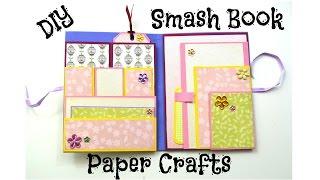 getlinkyoutube.com-DIY Paper Crafts - How to make a Smash Book Slim - Birthday Gift Idea - Giulia's Art