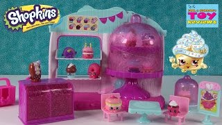 getlinkyoutube.com-Shopkins Cupcake Queen Cafe Playset | Season 4 Unboxing Toy Review | PSToyReviews