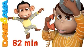 getlinkyoutube.com-Five Little Monkeys Jumping on the Bed | Nursery Rhymes Collection from Dave and Ava
