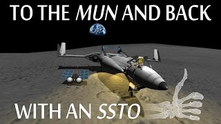 getlinkyoutube.com-[Stock] SSTO To The Mun In Version 1.0.4 - KSP