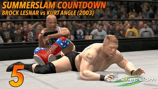 5. Brock Lesnar vs Kurt Angle Summerslam 2003 (WWE 2K14)