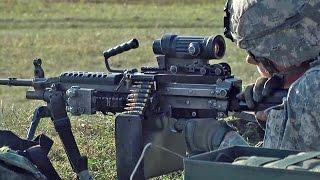 getlinkyoutube.com-米・リトアニア軍事演習 M249軽機関銃(ミニミ) M240機関銃 [HD]