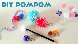 getlinkyoutube.com-Como fazer Pompom + Ideias de Enfeites  - How to make pom pom