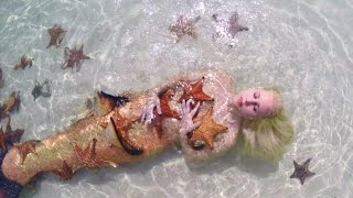 getlinkyoutube.com-Mermaid Melissa with real sea stars on Starfish Island