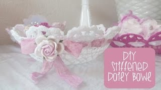 Retro Craft: Stiffened Doily Bowl