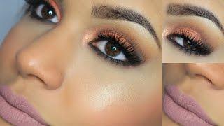 getlinkyoutube.com-Maquillaje Ojos Cobre y Labios Nude - Otoño 2015 | AbrilDoesMakeup ♡