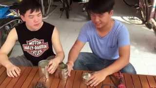 getlinkyoutube.com-เตาชีวมวลแบบพกพาจากกระป๋องนมข้น PHY103 sec 3