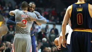getlinkyoutube.com-LeBron James vs Dwyane Wade LIVING LEGENDS Duel 2016.12.02 - 24 Pts For Wade, LBJ with 27/13 Ast!
