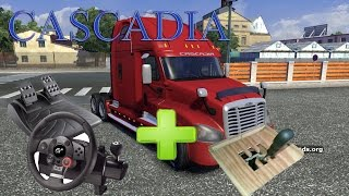 getlinkyoutube.com-Euro Truck Simulator 2 (Driving Force Gt + Shifter) Freightliner Cascadia v 1.01