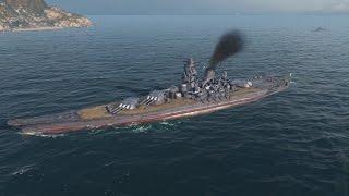 getlinkyoutube.com-World Of Warships - Yamato Gameplay : War Machine