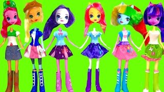 getlinkyoutube.com-My Little Pony MLP Equestria Girls with Wrong Heads & Toy Surprises | Fizzy Toy Show