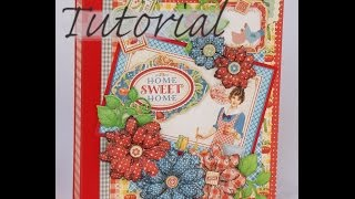 getlinkyoutube.com-How to make Graphic 45 Home Sweet Home Mini album Tutorial -Terry's Scrapbooks