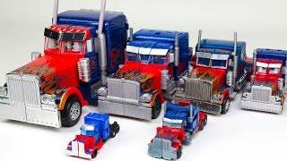 getlinkyoutube.com-Transformers Movie Various sizes Class Optimus Prime Truck 6 Vehicle Transformation Robot Car Toys