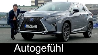 Lexus RX 450h F-Sport FULL REVIEW test driven all-new gen Hybrid neu - Autogefühl