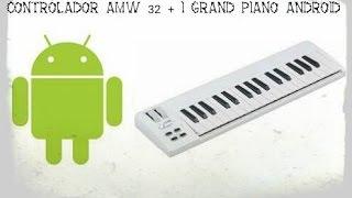 Teclado Controlador AMW 32 + App I Grand Piano + Tablet android