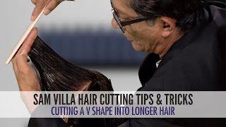 getlinkyoutube.com-Cutting a V Shape Into Long Hair