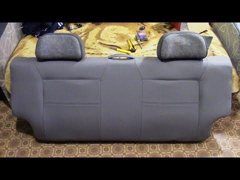 Замена обивки спинки заднего сиденья ВАЗ 21083