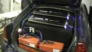 getlinkyoutube.com-4 Sundown SA12's Walled - 2 Audiopipe 3K's - 5K Mobile Electronics Late night Project vid #1