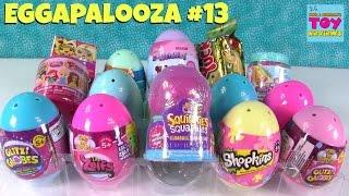 Eggapalooza # 13 Surprise Egg Disney Emoji Shopkins MLP Opening | PSToyReviews