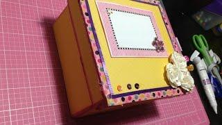 getlinkyoutube.com-Caja de carton decorada// Scrapbook