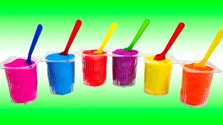 getlinkyoutube.com-Play Doh Surprise Color Yogurt Cups Colored with Masha and The Bear Маша и Медведь Minnie Mouse Toys