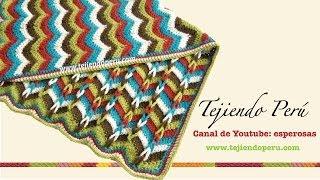 getlinkyoutube.com-Cobija zigzag con trenzas en 2 direcciones tejida a crochet