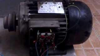 getlinkyoutube.com-Running 3 phase motor 415 VAC on single phase 240VAC - STAR Connection