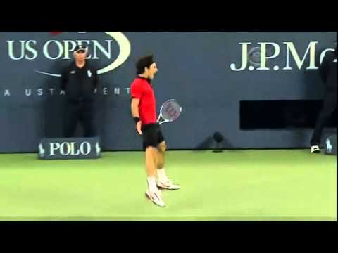 Roger Federer BEST TENNIS SHOT EVER (MUST SEE) ever Tweener between the legs