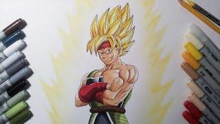 getlinkyoutube.com-Drawing Bardock Super Saiyan | SSJ - Father of Goku