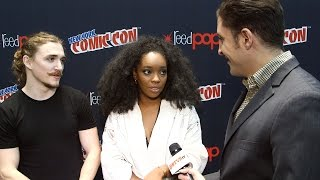 "getlinkyoutube.com-Kyle Gallner & Christina Jackson on ""Outsiders"" at NYCC Behind The Velvet Rope"