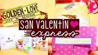 REGALOS EXPRESS para San Valentín: Amor y Amistad ✄ Craftingeek