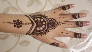 getlinkyoutube.com-Simple, Cute Henna Design