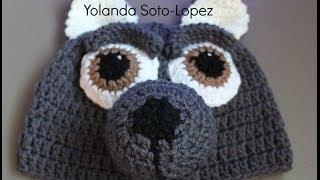 getlinkyoutube.com-Aprenda a tejer un Gorro de lobo en #Crochet - video uno