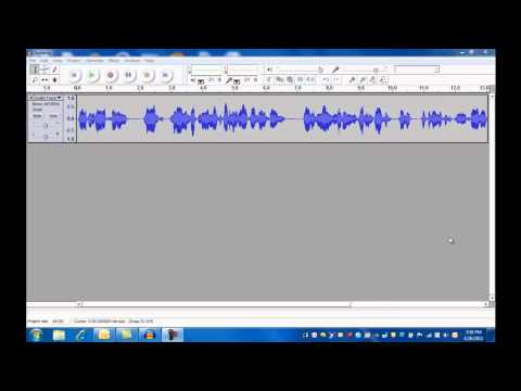 Audacity - Lesson 1, The Basics