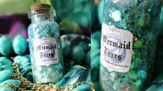 getlinkyoutube.com-Mermaid Tears In a Bottle Charm