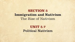 getlinkyoutube.com-MOOC | Political Nativism | The Civil War and Reconstruction, 1850-1861 | 1.5.7