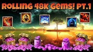 getlinkyoutube.com-Castle Clash Rolling 48k Gems! Pt.1