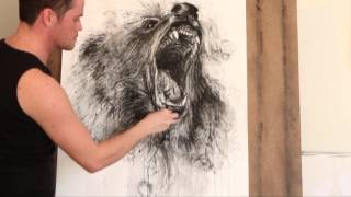 "getlinkyoutube.com-Speedpainting ""Roaring Bear"" by Fabian Froehly"