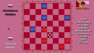 Fedorova Natalia (RUS) - Shestakova Nataliya (RUS). World Draughts-64_women. Semifinal. width=