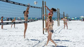 getlinkyoutube.com-Fiesta on Siesta Key 2015 - College Girls Beach Volleyball (part two) 4k UHD