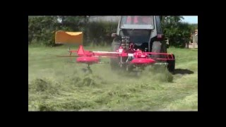 Enorossi DR420 Tedder and Rake Combination working in UK 2013 - AMIA Ltd 01392 580987