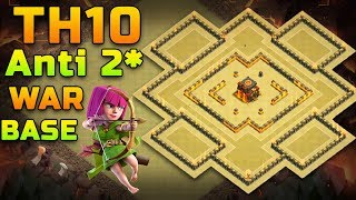 TH 10 Anti 2-Star War Base [2016] Build+ Replay #1