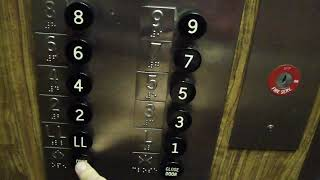 getlinkyoutube.com-Old Otis traction elevator @ The Genetti Hotel Williamsport PA