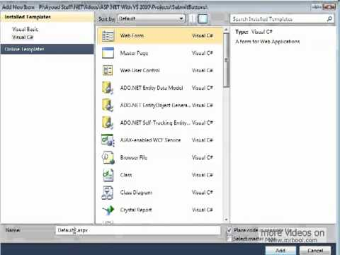 Three ways to submit form data - ASP.NET 4 and Visual Studio 2010 - Lesson 5
